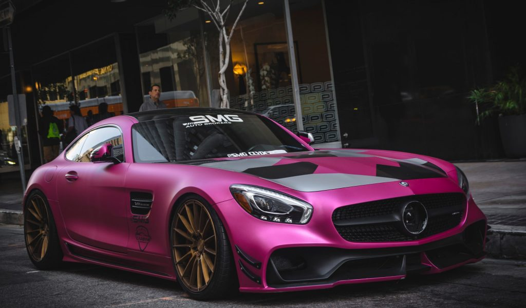 Los,Angeles,,Year,2018:,Front,View,Of,A,Tuned,Mercedes-amg